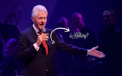 Así lució Bill Clinton en su más reciente alocusión sobre Hillary Clinto...