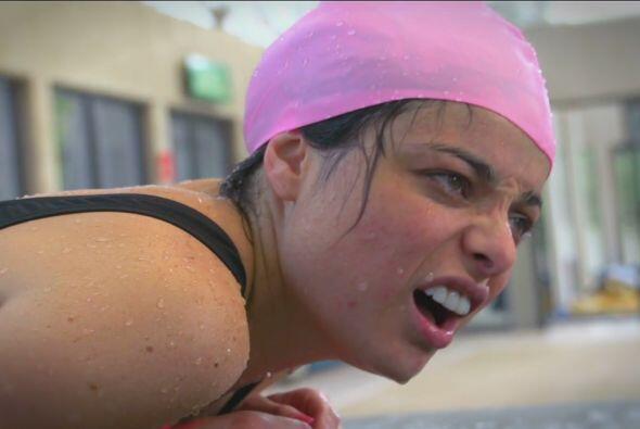 Los entrenamientos suelen ser un poco duros, lo dice la cara de Violeta...