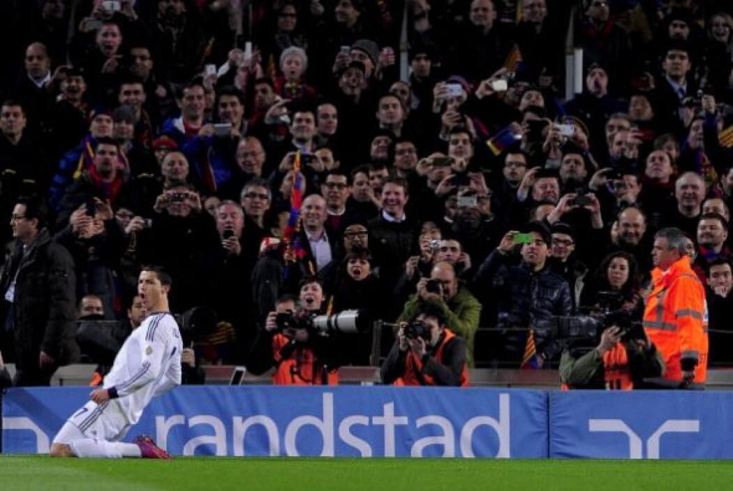 También es el undécimo gol de Cristiano en los clásicos contra el Barcel...