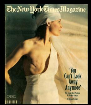 Carátula de 1993 de New York Times Magazine en el que la modelo Matuschk...