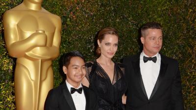 Angelina, Brad y Maddox