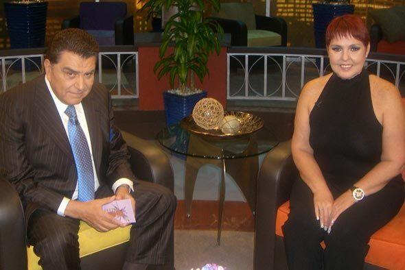 Don Francisco recibió en exclusiva a Lupita D´Alessio.