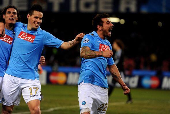 El 'Pocho' Lavezzi acababa de anotar su primer gol en Champions League y...