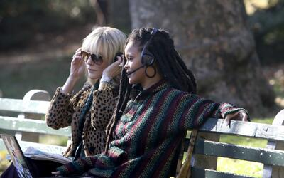 Rihanna estuvo filmando en el Central Park de Nueva York la cinta 'Ocean...