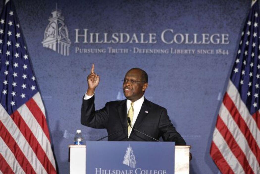 Cain, quien ha negado tanto las acusaciones de acoso sexual como la rela...
