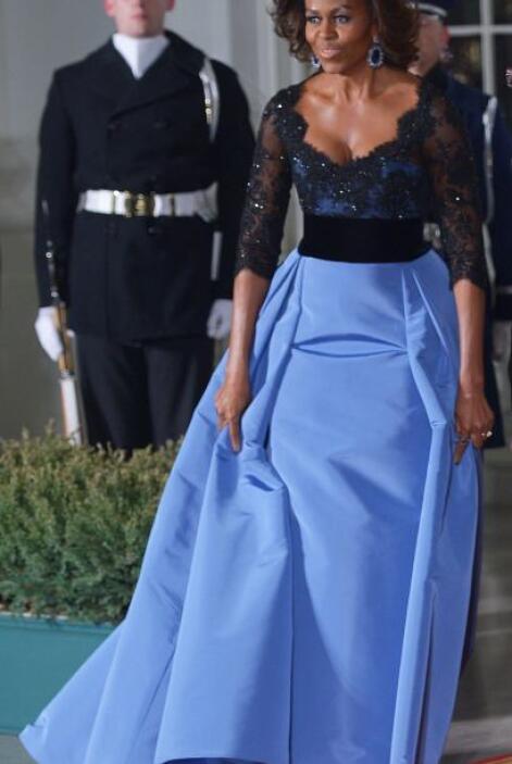 Así lució la primera dama durante la visita oficial del presidente de Fr...