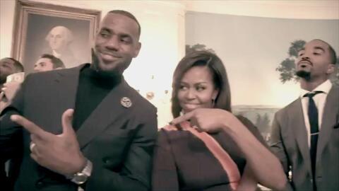"""El """"Mannequin Challenge"""" llegó a la Casa Blanca de la mano de los Clevel..."""