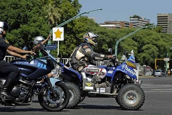 Por su parte, el argentino Alejandro Patronelli de la Yamaha fue el gana...