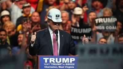 El candidato Trump durante un mitin en West Virginia, el 5 de mayo de 2016