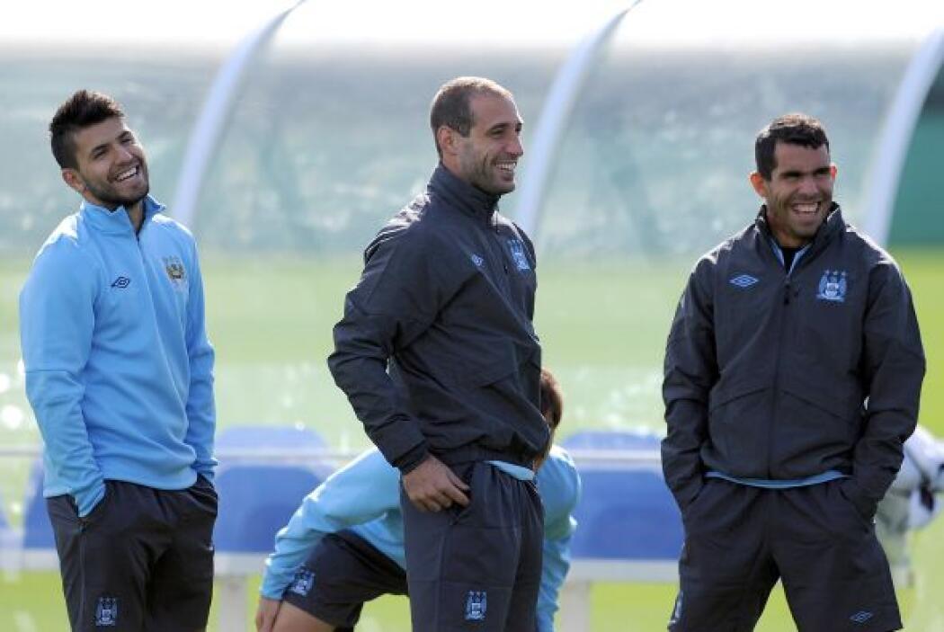 Mientras que el argentino Sergio 'Kun' Agüero y el español David Silva p...