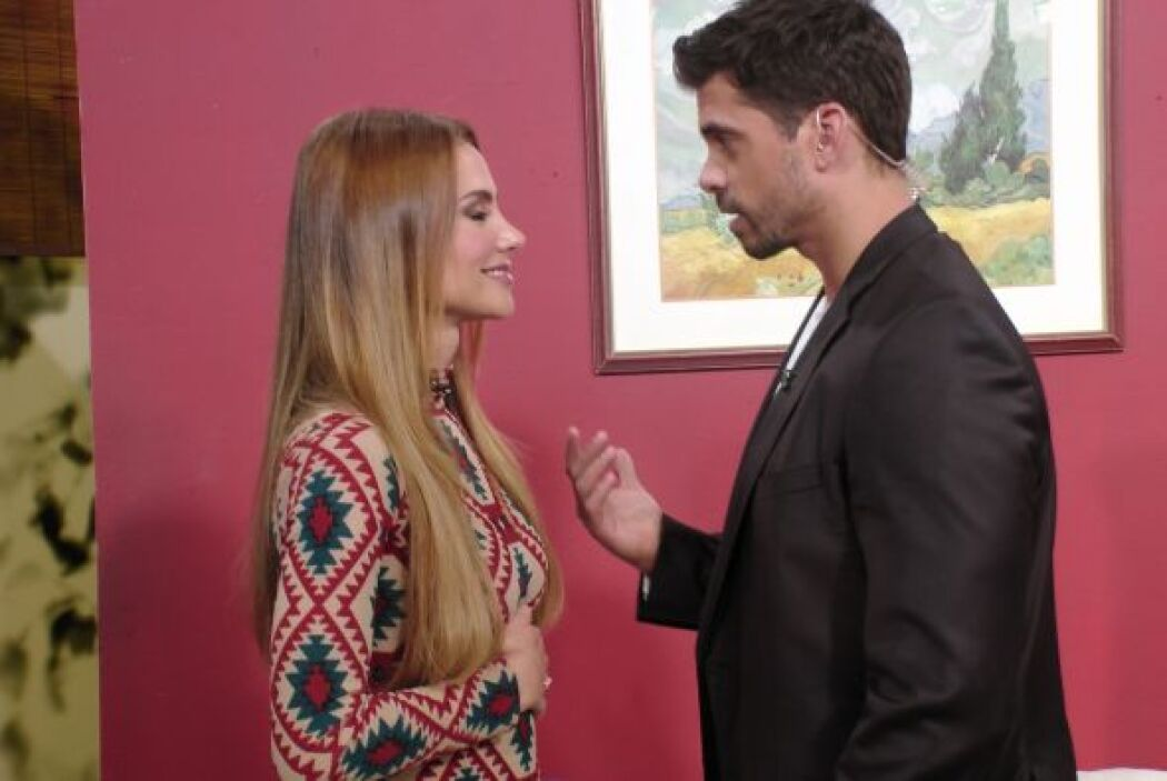 A Ximena también lo tocó actuar con Pedro Moreno y lo tuvo muy cerquita....