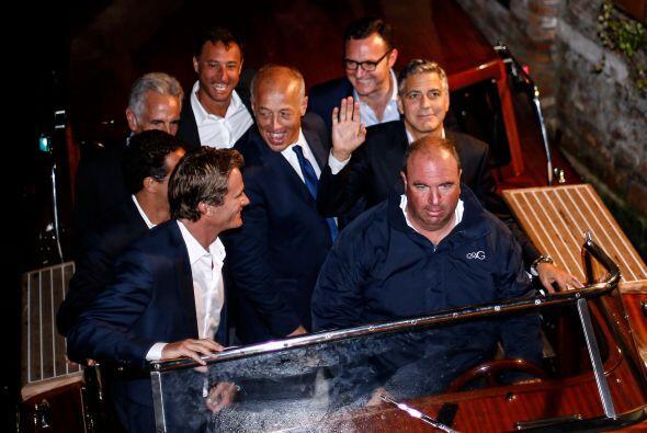 George Clooney y Amal Alamuddin en Venecia