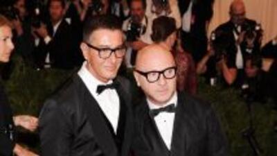 Los estilistas italianos Stefano Gabbana yDomenico Dolce.