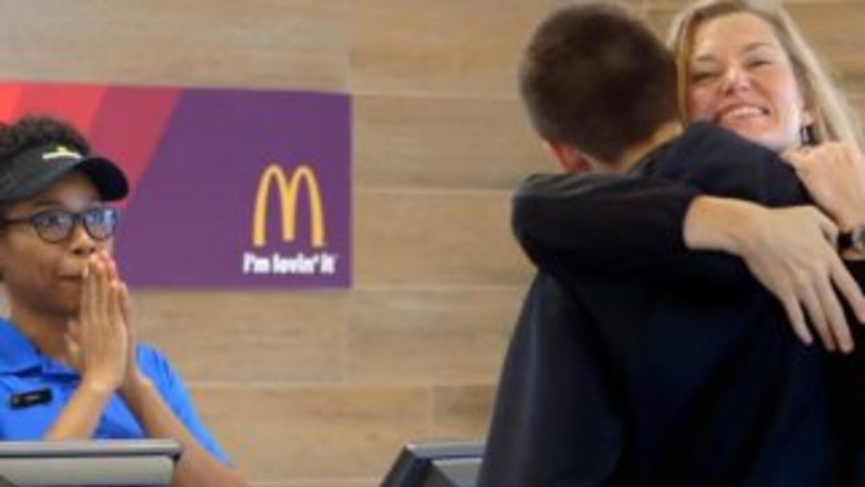 Esta imagen fue tomada del anuncio promocional de McDonald's.