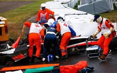 Este es el momento en que Bianchi es atendido por la gente de Emergencia...