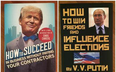 Dos de las portadas falsas que el comediante Scott Rogosky ha creado par...