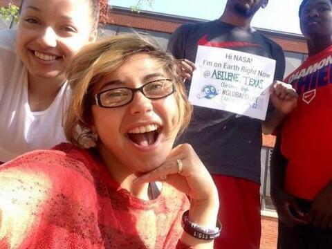 Y estos estudiantes de Abilene, Texas también tomaron su #EarthDa...