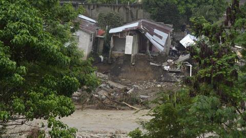 Imagen del 19 de noviembre que muestra las inundaciones en la localidad...
