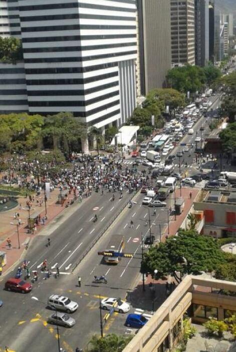 Manifestación contra el gobierno de Nicolás Maduro en Altamira, Caracas....