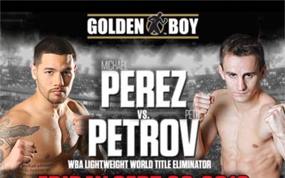 Cartel de la Michael Pérez vs Petrov.