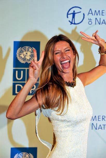 Y desde Brasil también, la modelo Gisele Bundchen es la 72. La publicaci...