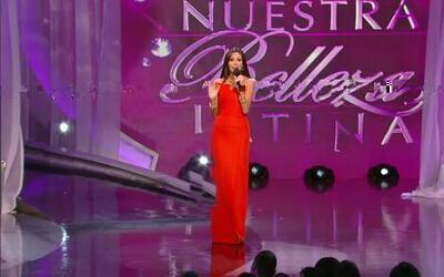 Marina Ruiz actuó junto a Salvador Zerboni en la final de Nuestra Bellez...