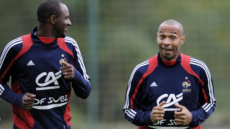Patrick Vieira y Thierry Henry, Francia