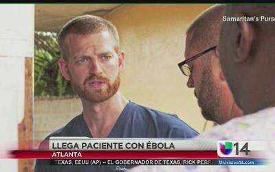 Paciente con ébola llega a Estados Unidos