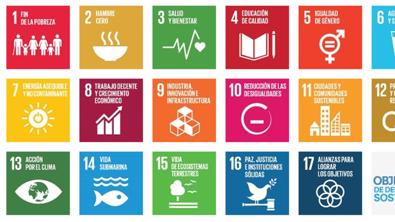 Cartel de los Objetivos de Desarrollo Sostenible.