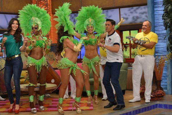 En Mira Quien Baila no lo vimos bailando samba pero, ¡qué bien lo hace!