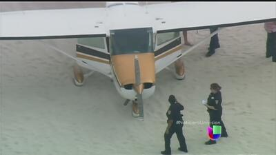 Avioneta aterriza en las playas de Miami
