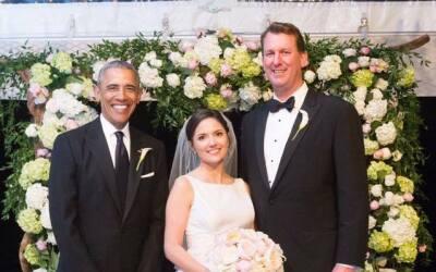 El presidente Obama con los esposos Marvin Nicholson y Helen Pajcic