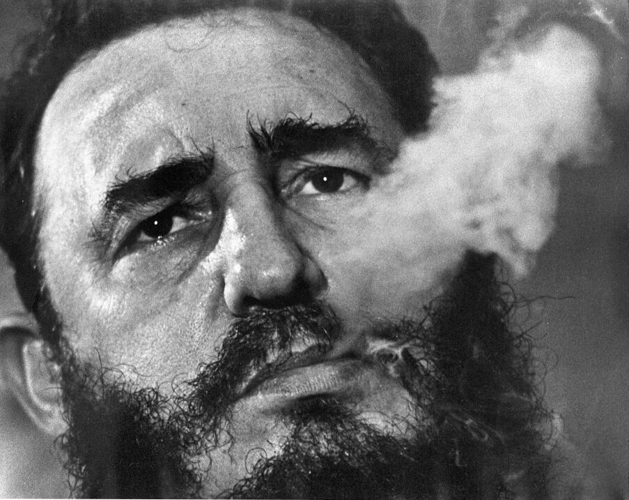 Retrato de Fidel Castro en 1985.