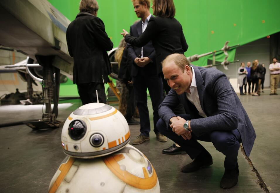 Harry y William al estilo Star Wars