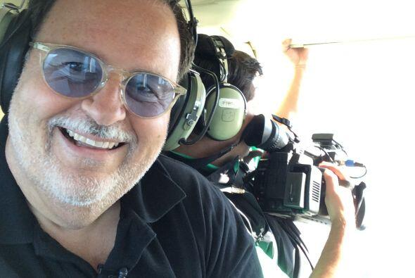 El Gordo de Molina realizó un atrevido viaje en helicóptero sobre Río de...