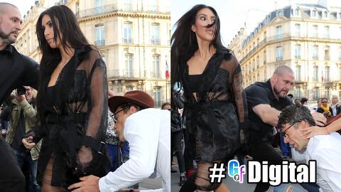 GYF Digital: Kim Kardashian fue atacada cariñosamente por la espalda y t...