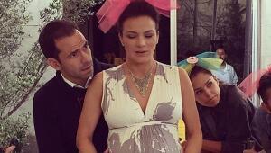 Silvia Navarro a días de dar a luz