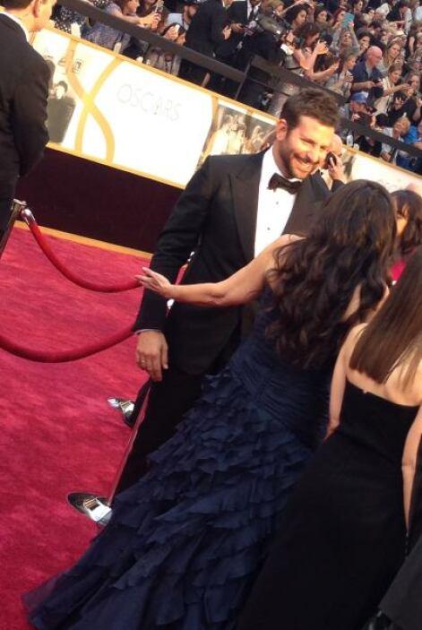 Bradley Cooper se puso al día con sus compañeros de Hollywood.