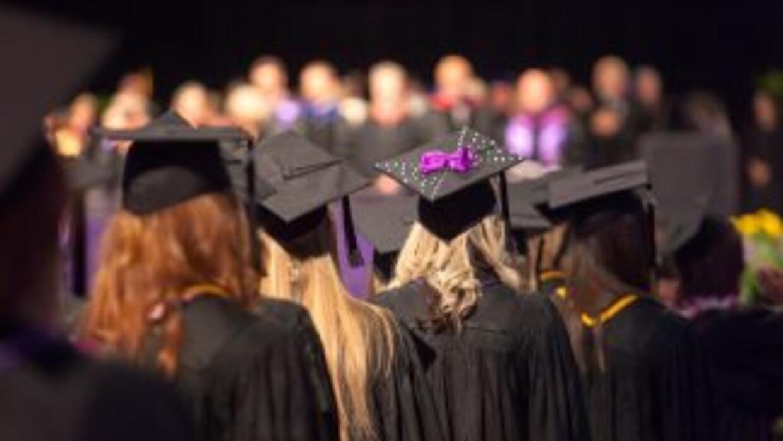 Una ceremonia de graduación en Utah, uno de los estado que permite a ind...