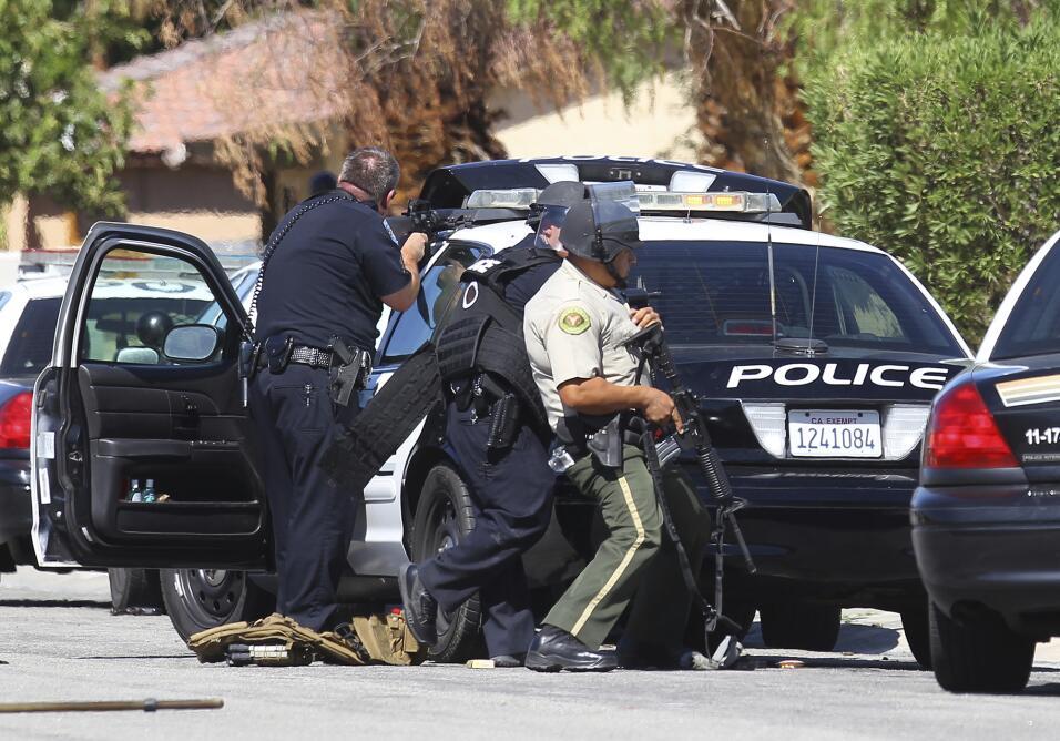 Dos policías murieron en un tiroteo en Palm Springs.