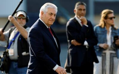 El secretario de Estado Rex Tillerson llega a la Ciudad de México