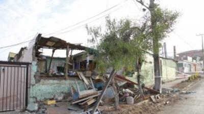 En la foto se ven algunos de los daños que dejó el sismo en Chile.