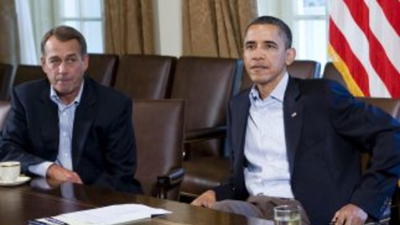 """Obama ha reiterado que no quiere una solución a """"corto plazo"""" para el pr..."""