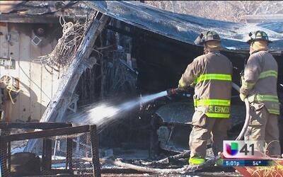 Incendio daña la vivienda de una señora de la tercera edad