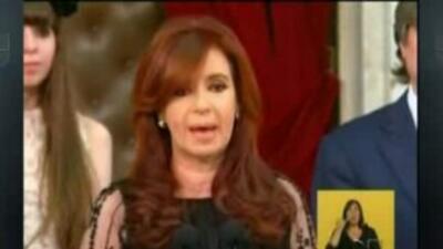 Cristina Fernandez hizo juramento