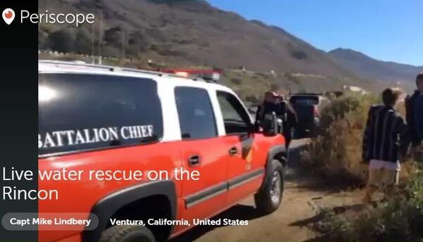 Capitán de Bomberos del condado de Ventura muestra peligroso rescate