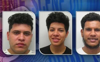 Tres hombres hispanos se hallan tras las rejas, acusados de haber agredi...