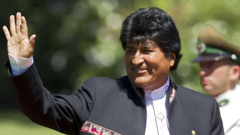 Evo Morales se hizo presente en el estadio de Bolívar.