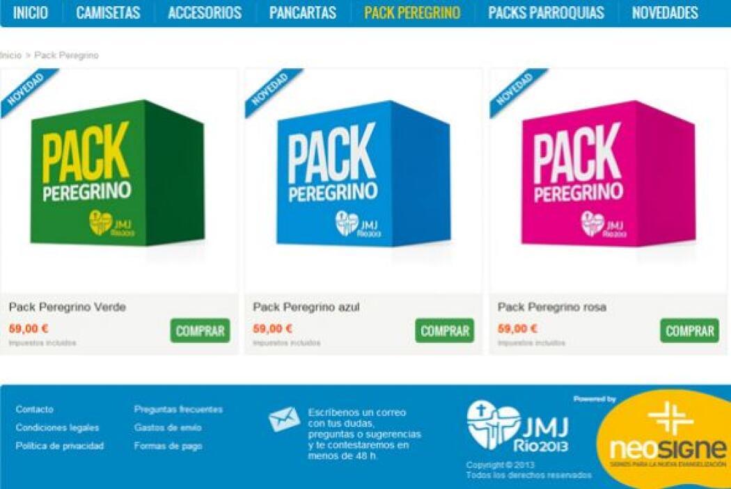 Ya para los peregrinos hay paquetes con todo lo que necesitan para una j...