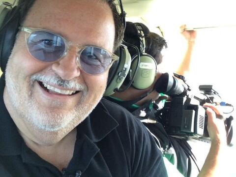 El Gordo de Molina realizó un atrevido viaje en helicópter...